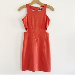 Finders Keepers Orange Cutout Mini Dress